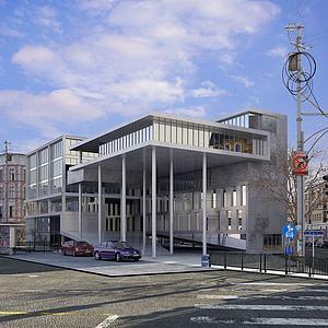 藝術建筑3d模型