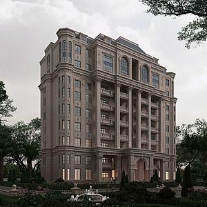 法式建筑3d模型