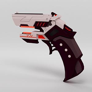 手枪模型3d模型