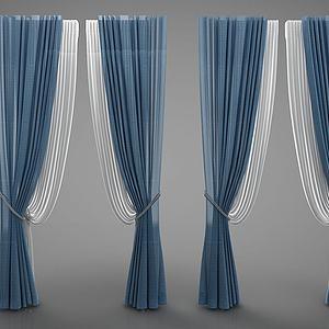 欧式窗帘3d模型