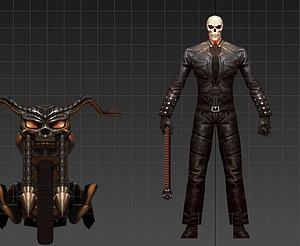 3d惡靈騎士模型