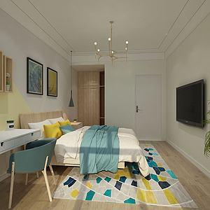 室內主臥3d模型