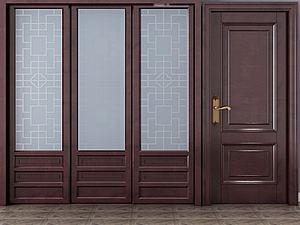 中式門及屏風模型3d模型