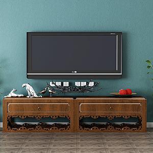 電視柜實木3d模型