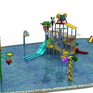 游樂場3d模型
