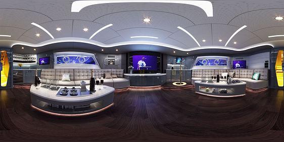 3d娱乐室全景模型