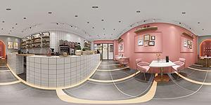面包咖啡奶茶店全景模型3d模型