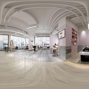 發廊美容店全景3d模型