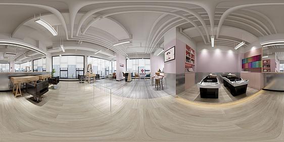 3d發廊美容店全景模型