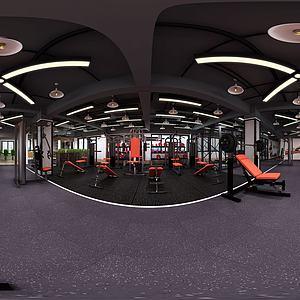 健身房全景3d模型