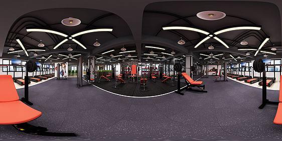 3d健身房全景模型
