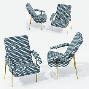 現代休閑波點椅3d模型