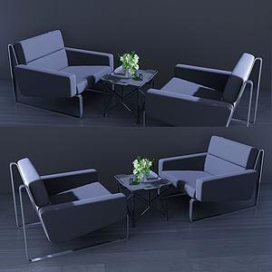 現代休閑桌椅會友桌3d模型