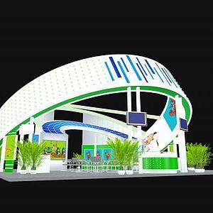 高端大氣展廳3d模型