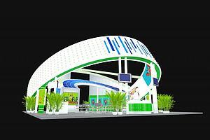 高端大氣展廳模型3d模型