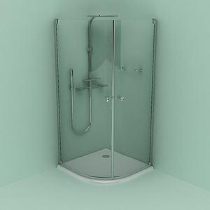 玻璃浴室3d模型