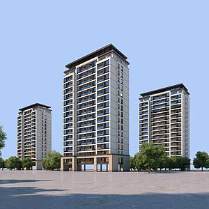 新中式单体建筑模型3d模型