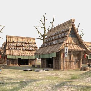 海贼王建筑模型3d模型
