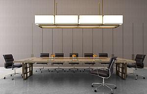 常規辦公會議桌模型3d模型