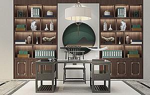 中式書桌椅模型3d模型