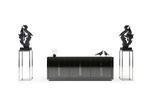 簡約中式電視柜模型3d模型