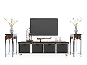 中式電視柜模型3d模型