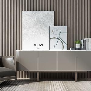 北歐椅子電視柜邊柜3d模型