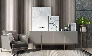 北歐椅子電視柜邊柜模型3d模型