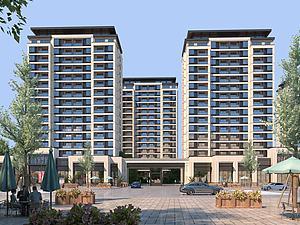 新中式建筑小区住宅模型3d模型