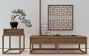 新中式邊柜模型3d模型