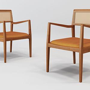 日式單椅3d模型