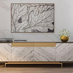 電視柜新中式3d模型