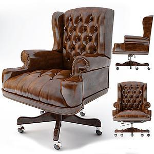 歐式古典老板椅模型3d模型