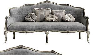 歐式法式美式沙發模型3d模型