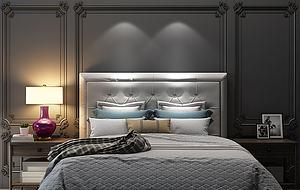 歐式床床頭柜模型3d模型