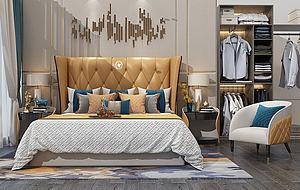 美式臥室模型3d模型
