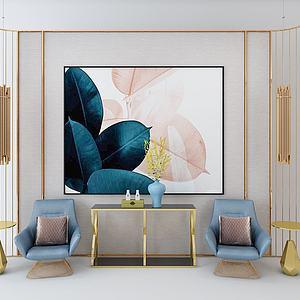 玄關柜休閑椅模型3d模型