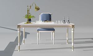 法式歐式書桌模型3d模型