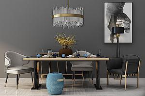 餐桌组合模型3d模型