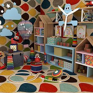 家庭兒童娛樂室模型3d模型