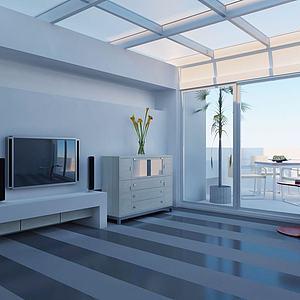 客廳電視背景墻造 型3d模型
