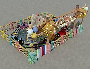 兒童游樂設施模型3d模型
