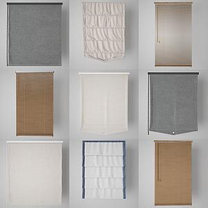 百葉窗簾3d模型