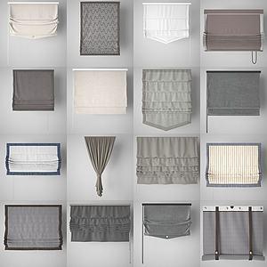 窗簾3d模型