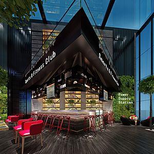 咖啡店模型3d模型