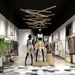 北歐服裝店3d模型