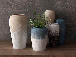 花瓶組合模型3d模型