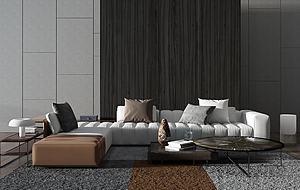 現代沙發組合模型3d模型