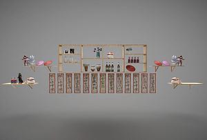 貨架酒架組合模型3d模型