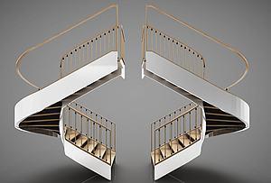 旋轉樓梯模型3d模型